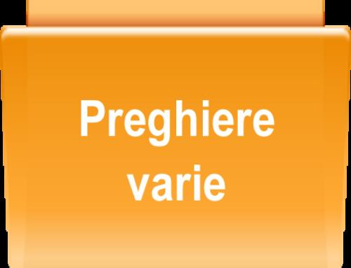 PREGHIERE VARIE