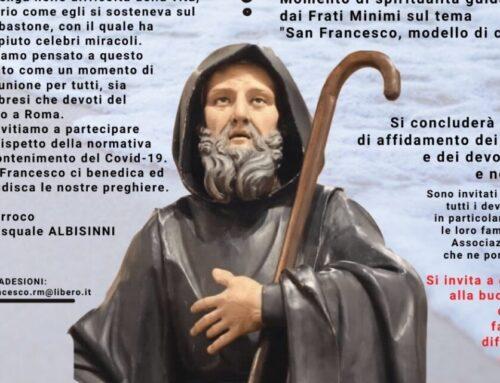 5 Maggio 2021: Celebrazioni in onore di San Francesco di Paola
