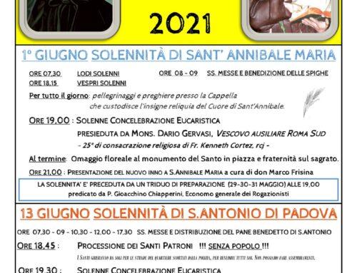 Festa di S. Antonio 2021: il programma