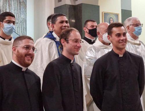 8 Settembre 2021: Tre Seminaristi Rogazionisti rinnovano i voti di Castità, Povertà e Obbedienza