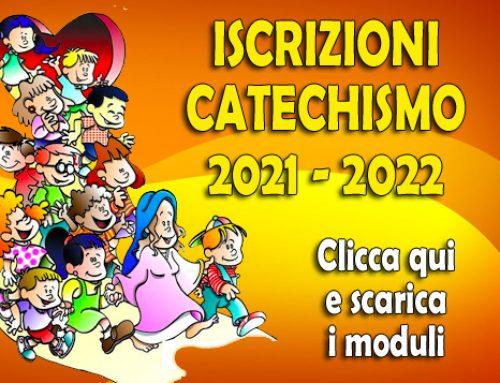 ISCRIZIONI AL CATECHISMO PER L'ANNO 2021-2022. Clicca qui per scaricare i moduli da compilare
